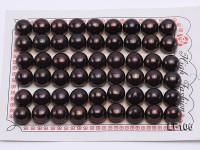 Wholesale Cards of 10-11mm Black Flat Pearls–27 Pairs