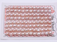 Wholesale Cards of AA-grade 7.5-8.0mm Lavender Flat Freshwater Pearls—48 Pairs