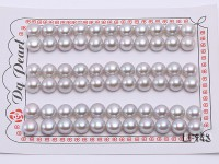 Wholesale Cards of AA-grade 8-8.5mm Silver Flat Freshwater Pearls—33 Pairs