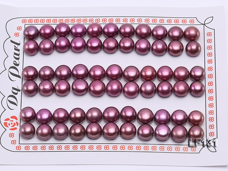Wholesale Cards of 8-8.5mm Lavender Flat Pearls–33 Pairs