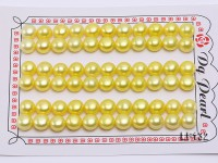 Wholesale Cards of 8-8.5mm Yellow Flat Pearls–33 Pairs