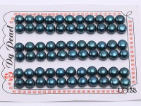 Wholesale Cards of 8-8.5mm Peacock Flat Pearls–33 Pairs