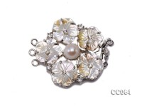 45mm Three-Row Shell Flower Clasp