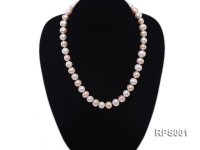 9-11mm white and pink round freshwater pearl necklace,bracelet and earring set