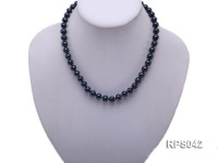 8-9mm black round freshwater pearl necklace,bracelet and earring set