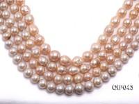 AAA-grade 12-15mm Natural Pink Irregularly-shaped Pearl String