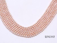 Wholesale 5x6mm High-quality Pink Rice-shaped Freshwater Pearl String