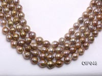 Wholesale & Retail AAA-grade 14x17mm Natural Pink Irregularly-shaped Pearl String