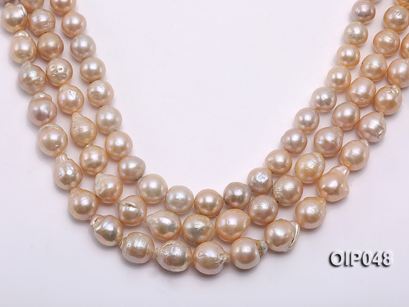 AAA-grade 13-16mm Natural Lavender Drip-shaped Pearl String