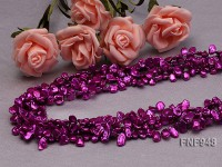Four-strand 6x9mm Purple Baroque Cultured Freshwater Pearl Necklace