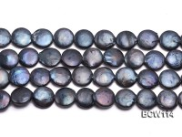 Wholesale 13-14mm  Coin-shaped Cultured Freshwater Pearl String