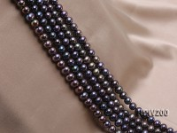 Wholesale AA-grade 9-10mm Coffee  Round Freshwater Pearl String