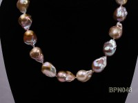 Classic 14.5×18.5-17x20mm Lavender Baroque Freshwater Pearl Necklace