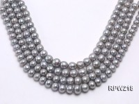 Wholesale & Retail A-grade 12-14mm Argent Round Freshwater Pearl String