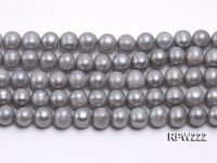 Wholesale & Retail A-grade 11-12mm Silver Round Freshwater Pearl String