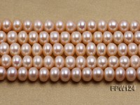 Wholesale High-quality 8x11mm pink Flat Pearl String