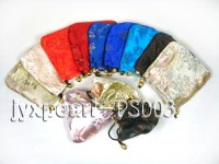 Delicate Silk Jewelry Pouch With Beautiful Patterns