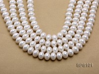 Wholesale 11x14mm Classic White Abacus-shaped Seashell Pearl String