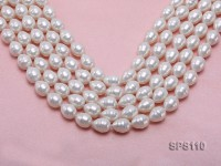 Wholesale 12x16mm Classic White Drip-shaped Seashell Pearl String