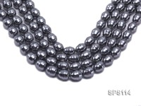 Wholesale 14x18mm Black Drip-shaped Seashell Pearl String