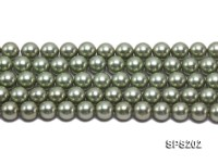 Wholesale 10mm Light Green Round Seashell Pearl String