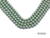 Wholesale 10mm Green Round Seashell Pearl String