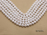 Wholesale 10mm Classic White Round Seashell Pearl String