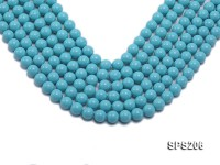 Wholesale 10mm Blue Round Seashell Pearl String