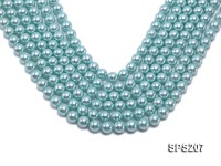 Wholesale 10mm Azure Round Seashell Pearl String