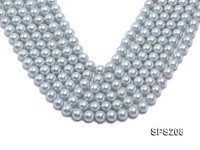 Wholesale 10mm Powder Blue Round Seashell Pearl String