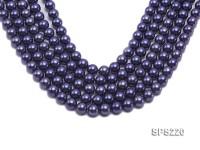 Wholesale 10mm Dark Blue Round Seashell Pearl String