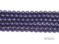 Wholesale 10mm Dark Blue Round Seashell Pearl String