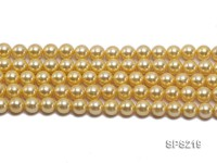 Wholesale 10mm Yellow Round Seashell Pearl String