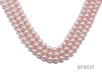 Wholesale 10mm Pink Round Seashell Pearl String