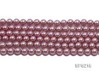 Wholesale 10mm Round Lavender Seashell Pearls String