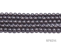 Wholesale 10mm Black Round Seashell Pearl String