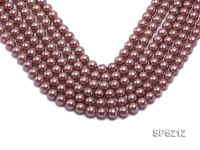 Wholesale 10mm Lavender Round Seashell Pearl String