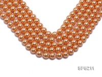 Wholesale 10mm Orange Round Seashell Pearl String