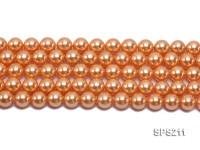 Wholesale 10mm Orange Round Seashell Pearl String
