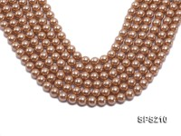 Wholesale 10mm Golden Round Seashell Pearl String