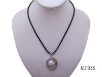 30x30mm mabe pearl pendant with sterling silver