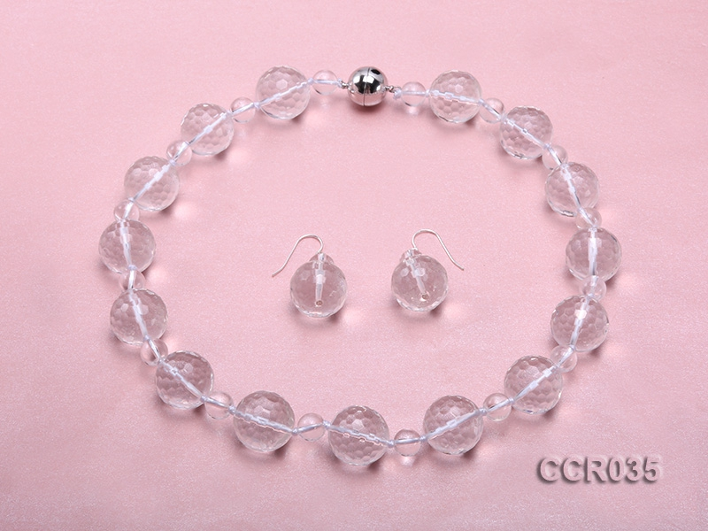 Rock Crystal Necklace and Earrings Set