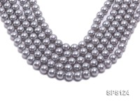 Wholesale 12mm Round Lavender Grey Seashell Pearl String