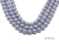 Wholesale 14mm Lavender Grey Round Seashell Pearl String