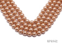 Wholesale 14mm Golden Round Seashell Pearl String