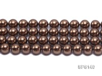 Wholesale 14mm Bright Coffee Round Seashell Pearl String