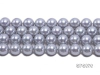Wholesale 16mm Silver Grey Round Seashell Pearl String