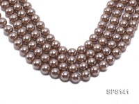 Wholesale 14mm Champagne Round Seashell Pearl String