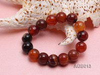 14mm multicolor round agate bracelet