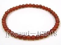 4.5mm round red agate bracelet